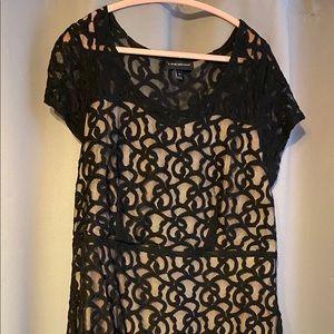 Lane Bryant Lace Illusion Cap Sleeve Dress